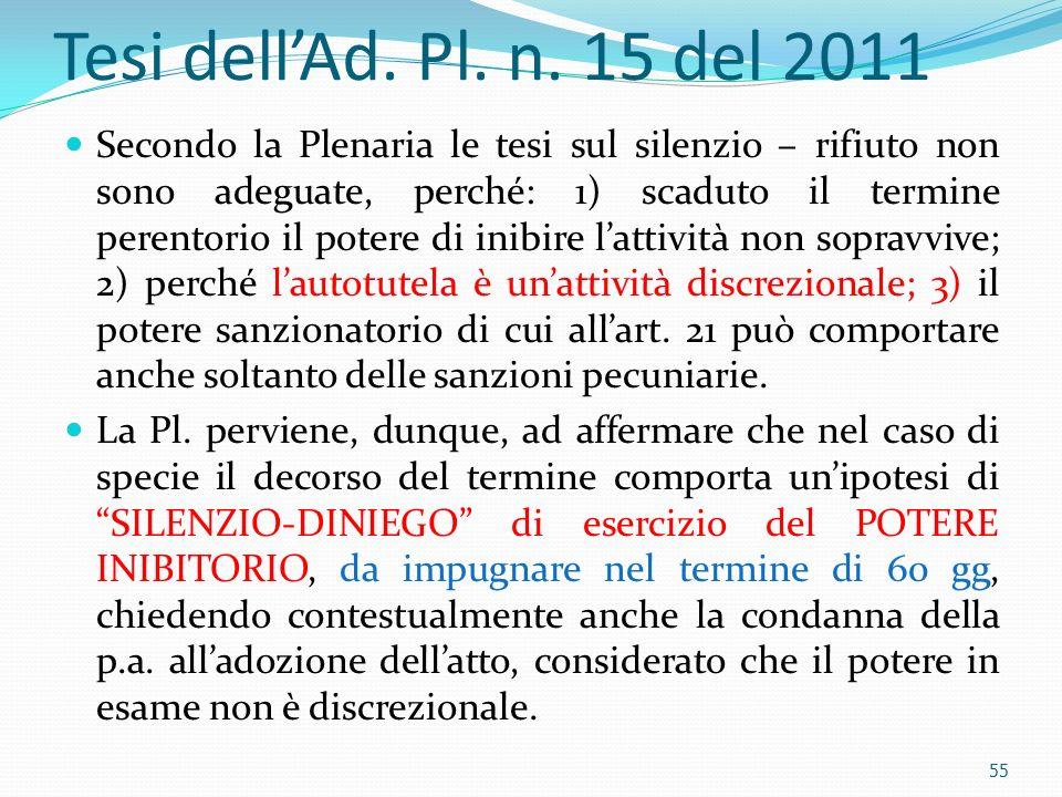 Tesi dell'Ad. Pl. n. 15 del 2011