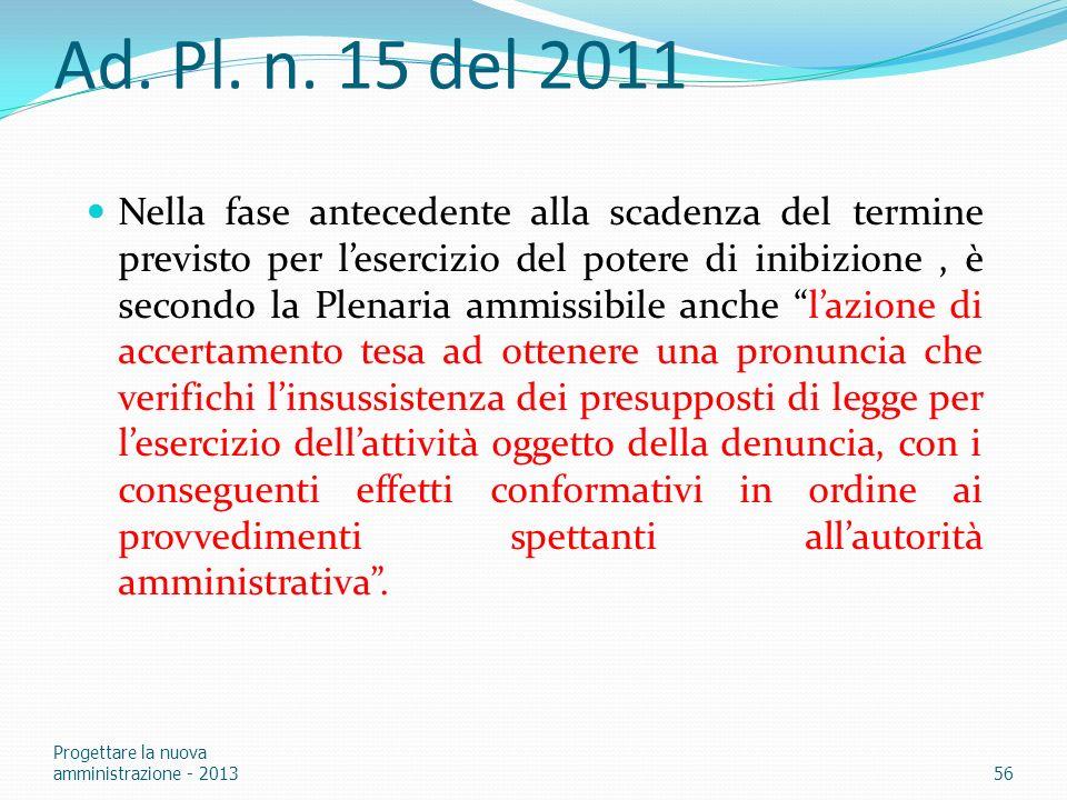 Ad. Pl. n. 15 del 2011