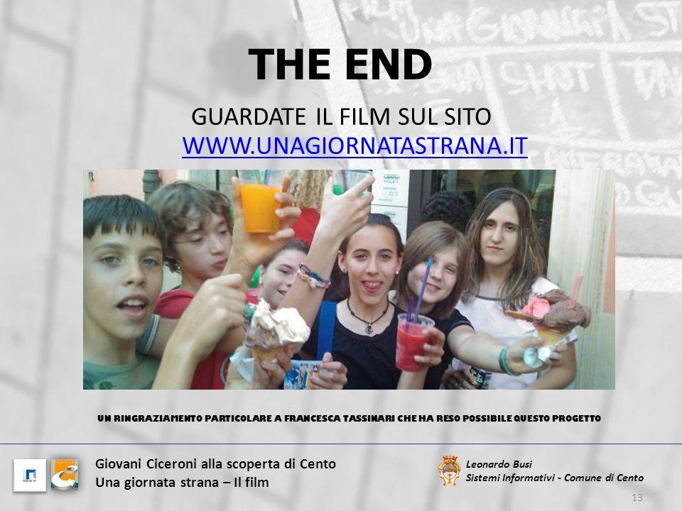 GUARDATE IL FILM SUL SITO WWW.UNAGIORNATASTRANA.IT