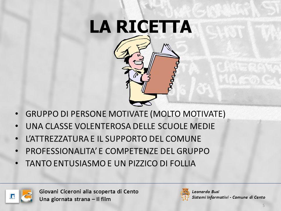 LA RICETTA GRUPPO DI PERSONE MOTIVATE (MOLTO MOTIVATE)