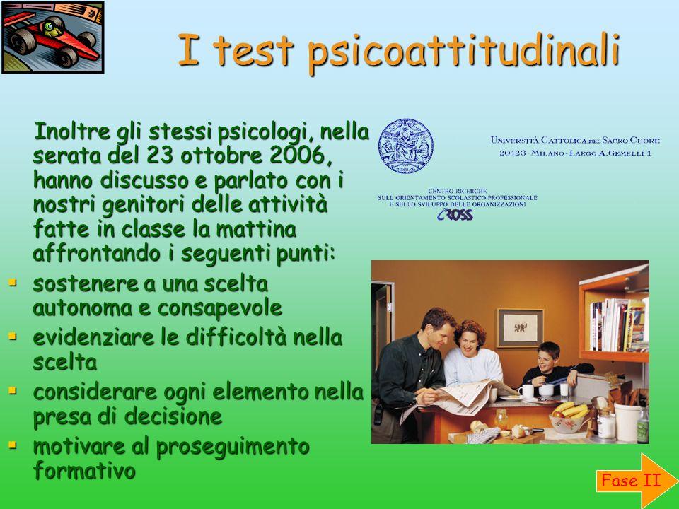 I test psicoattitudinali