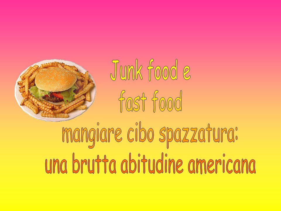 mangiare cibo spazzatura: una brutta abitudine americana