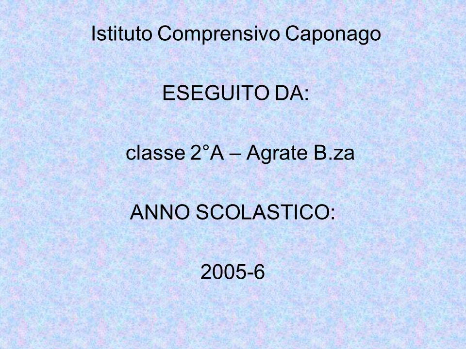 Istituto Comprensivo Caponago