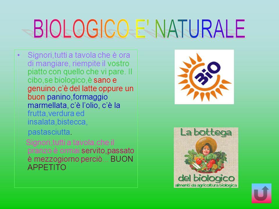 BIOLOGICO E NATURALE