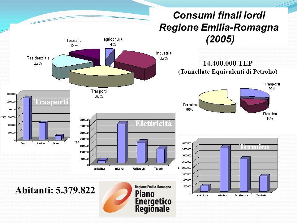 Regione Emilia-Romagna (Tonnellate Equivalenti di Petrolio)