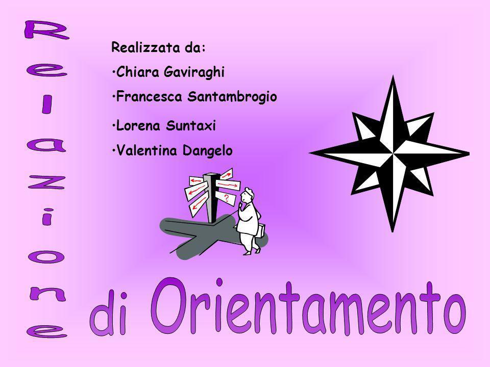 Relazione Orientamento di Realizzata da: Chiara Gaviraghi