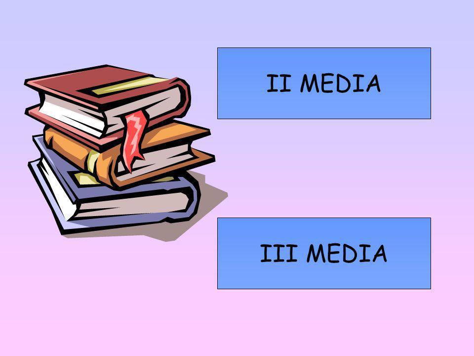 II MEDIA III MEDIA