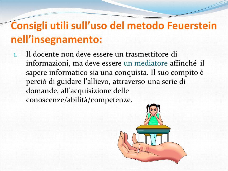 Consigli utili sull'uso del metodo Feuerstein nell'insegnamento: