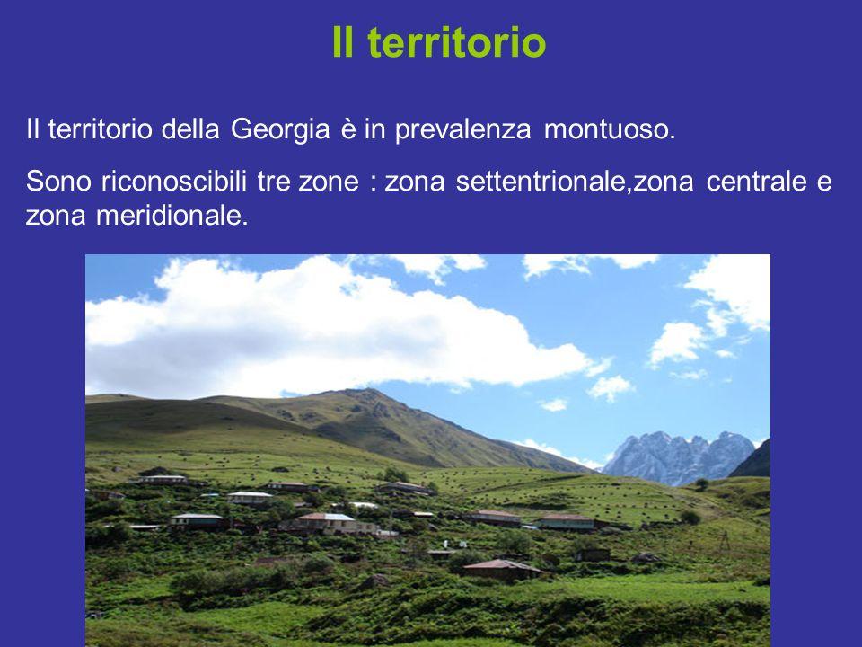 Il territorio Il territorio della Georgia è in prevalenza montuoso.