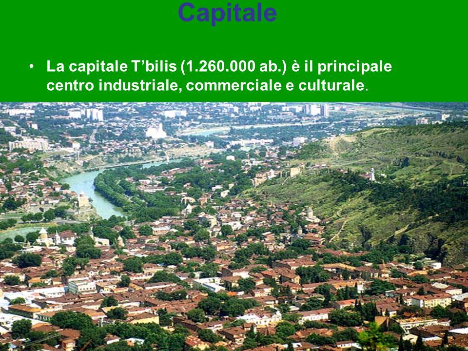Capitale La capitale T'bilis (1.260.000 ab.) è il principale centro industriale, commerciale e culturale.
