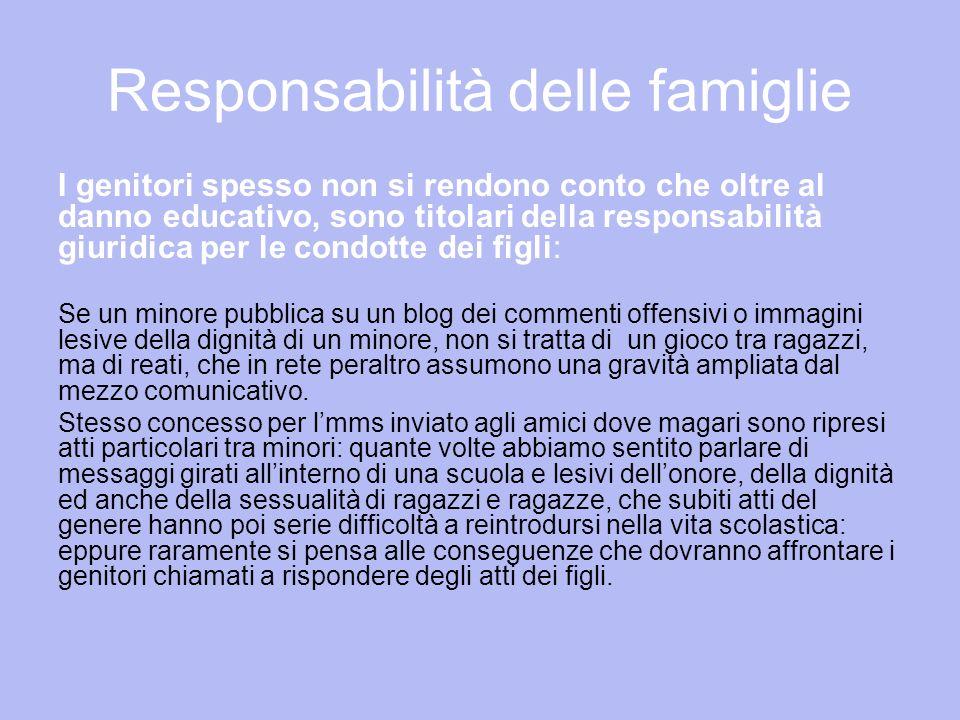 Responsabilità delle famiglie