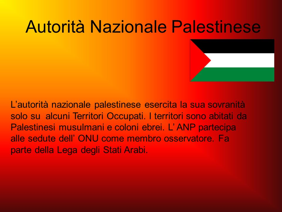 Autorità Nazionale Palestinese