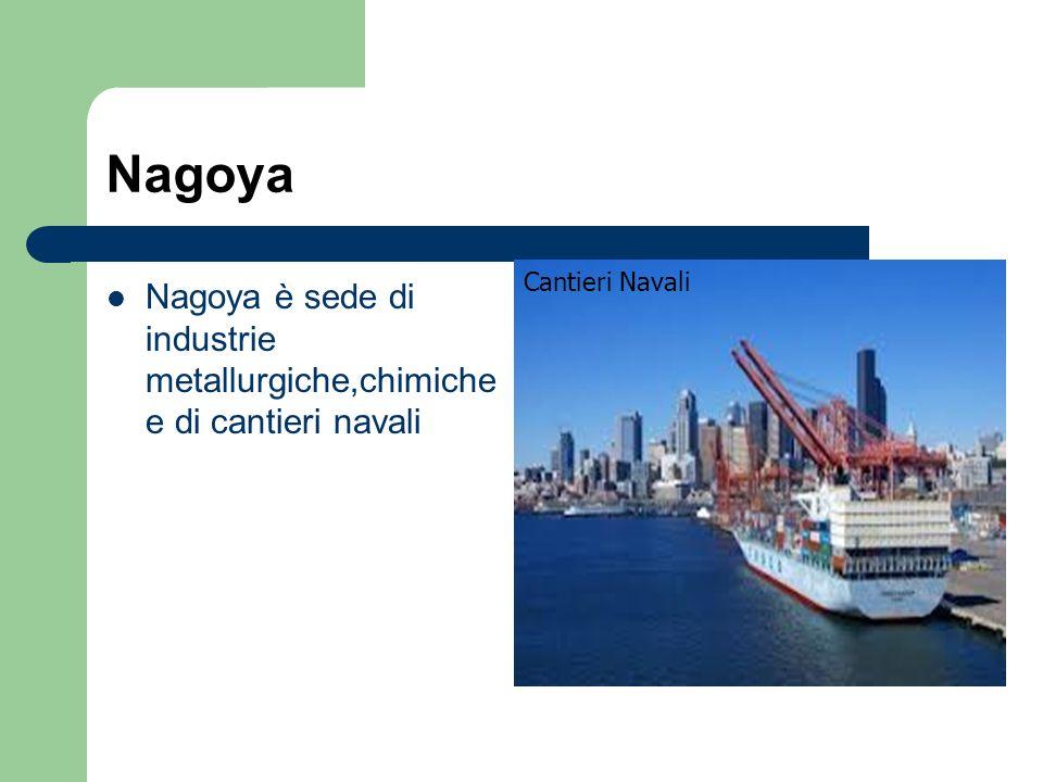 Nagoya Cantieri Navali Nagoya è sede di industrie metallurgiche,chimiche e di cantieri navali