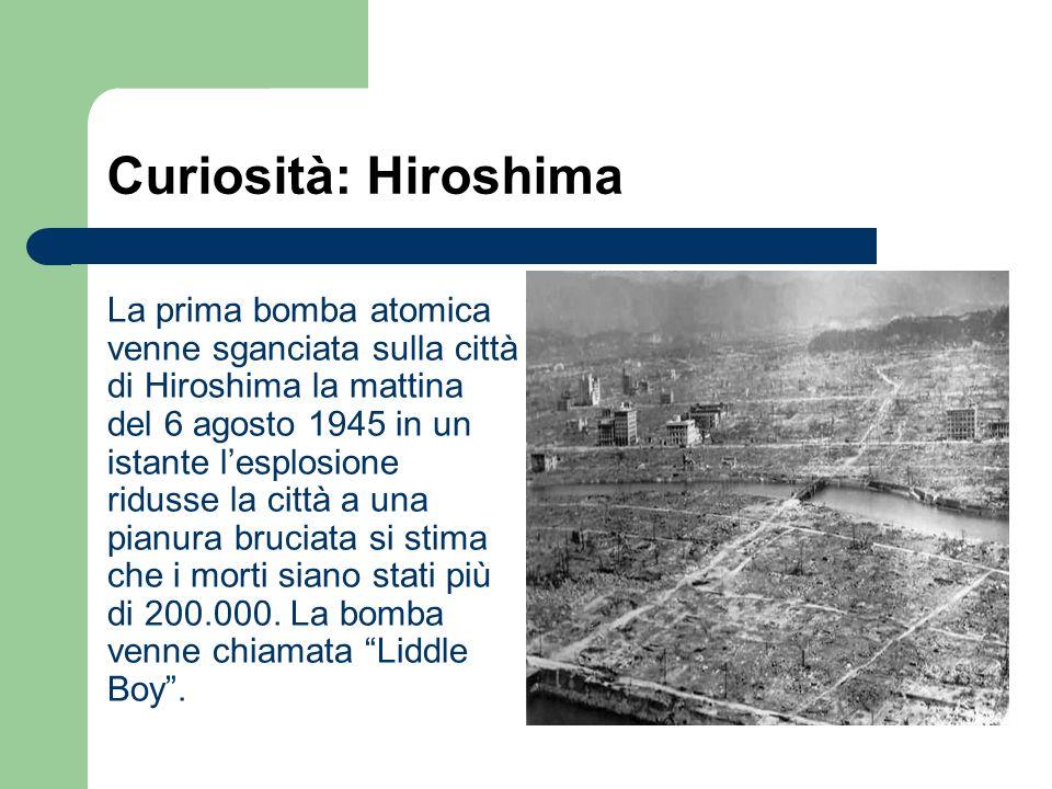 Curiosità: Hiroshima