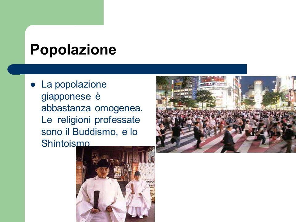 Popolazione La popolazione giapponese è abbastanza omogenea.