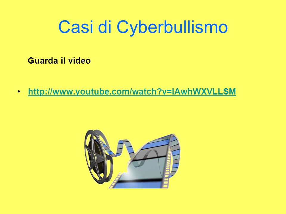Casi di Cyberbullismo Guarda il video