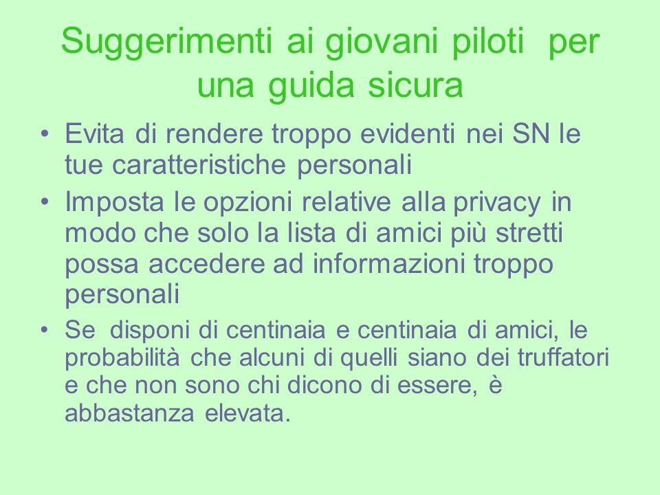 Suggerimenti ai giovani piloti per una guida sicura