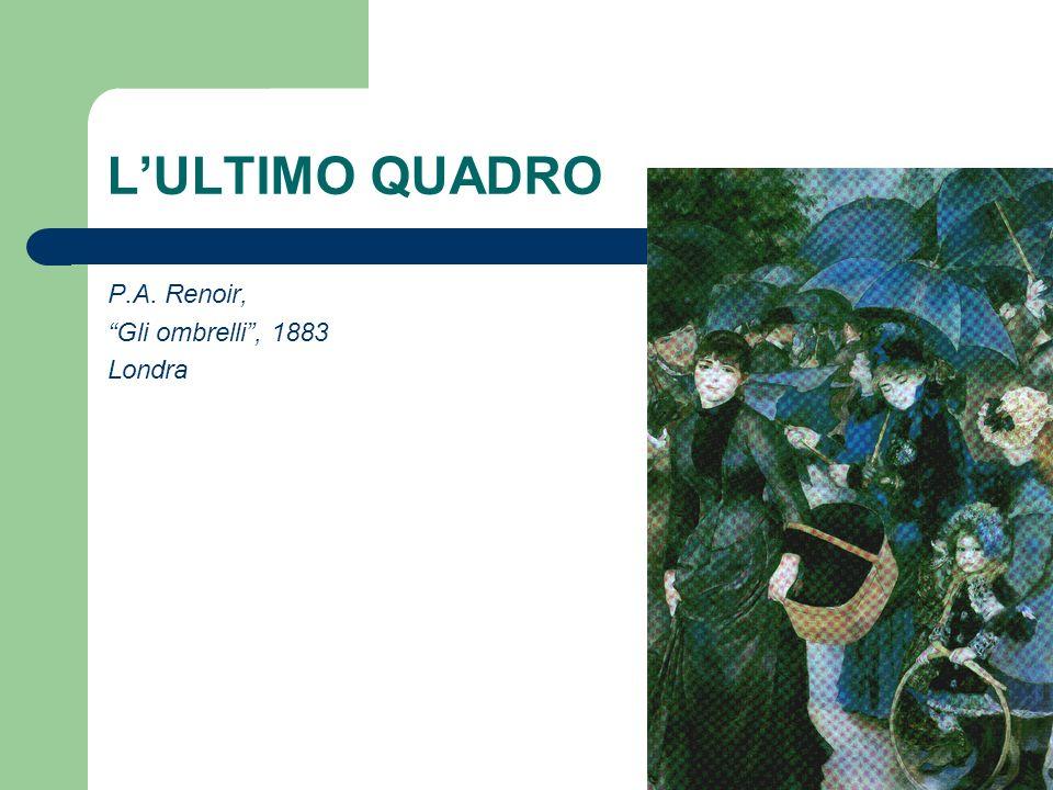 L'ULTIMO QUADRO P.A. Renoir, Gli ombrelli , 1883 Londra