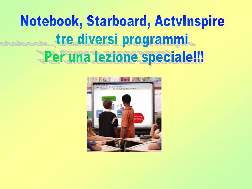 Notebook, Starboard, ActvInspire tre diversi programmi