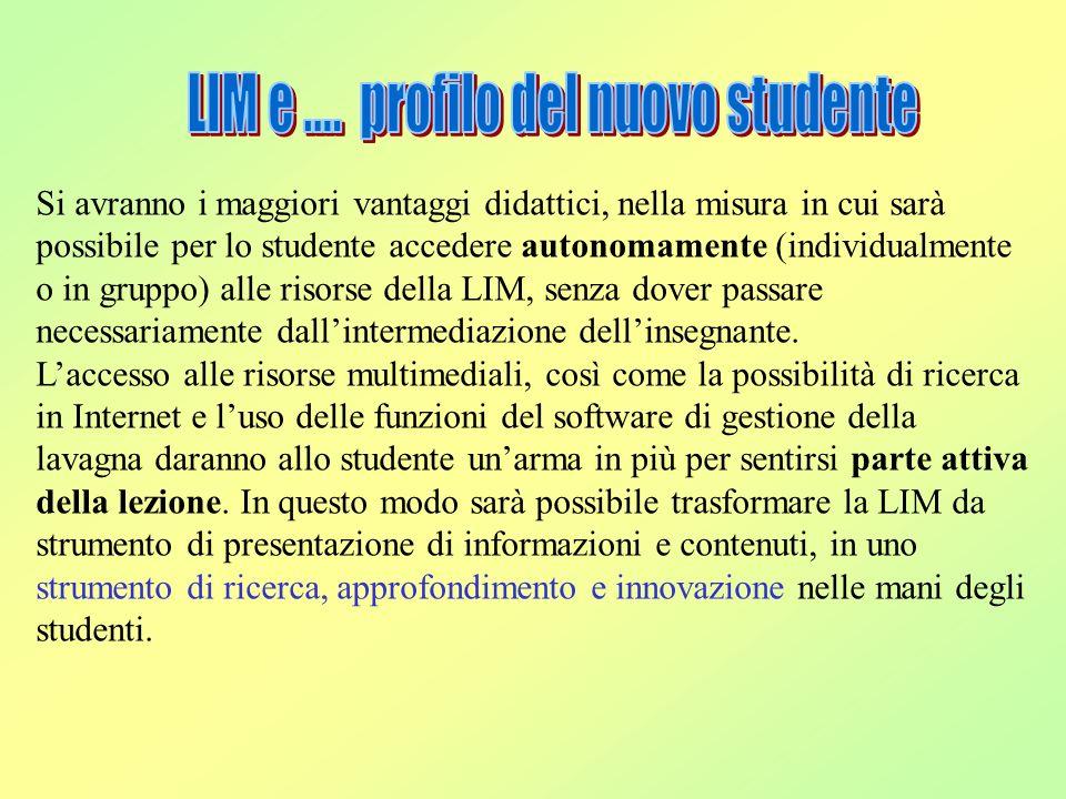 LIM e .... profilo del nuovo studente