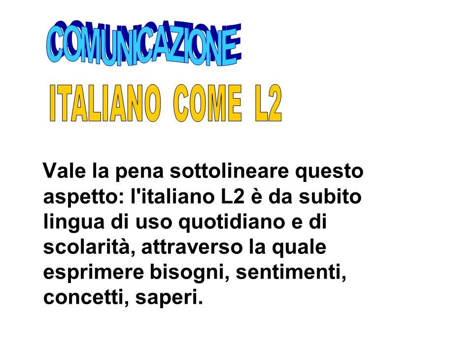 COMUNICAZIONE ITALIANO COME L2.