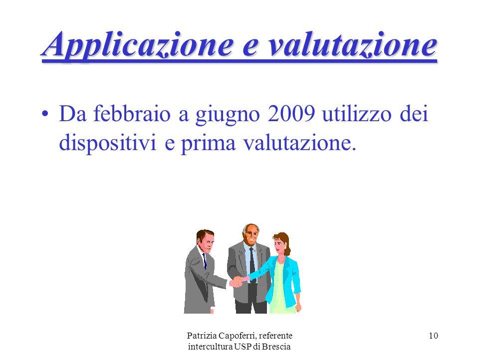 Applicazione e valutazione