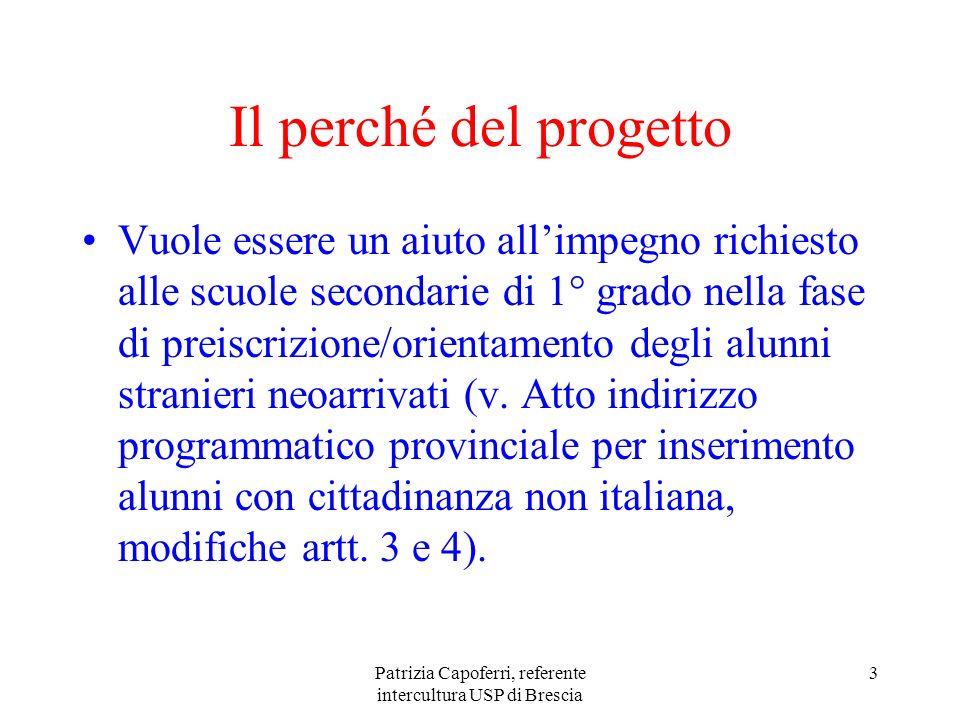 Patrizia Capoferri, referente intercultura USP di Brescia