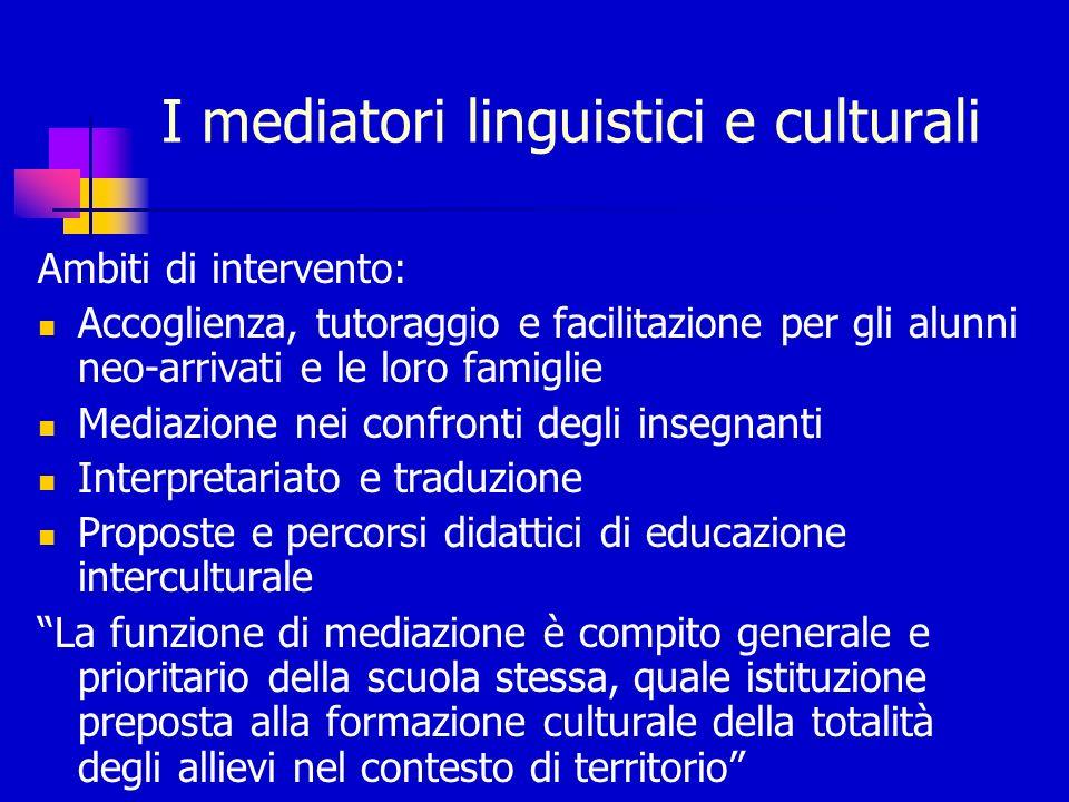 I mediatori linguistici e culturali
