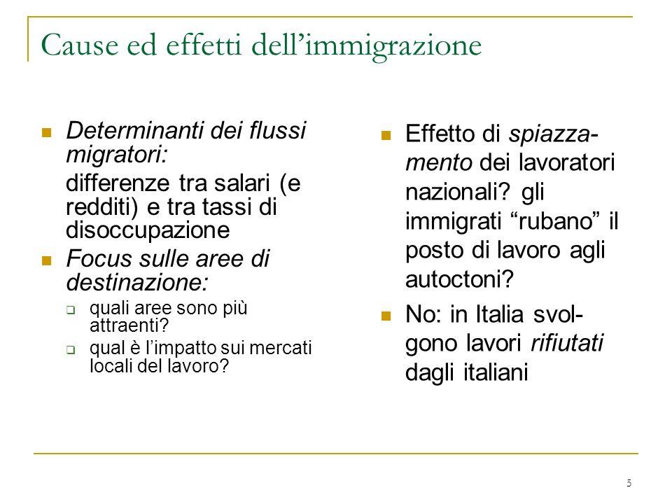 Cause ed effetti dell'immigrazione