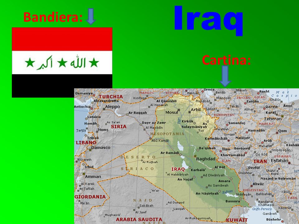 Bandiera: Cartina: Iraq