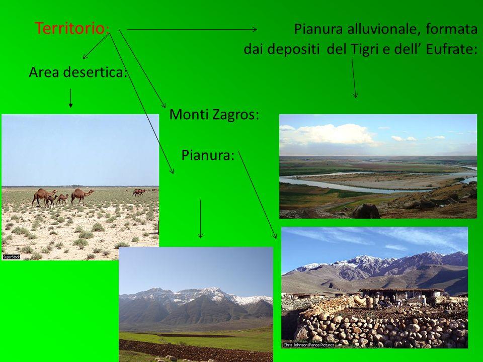 Territorio: Pianura alluvionale, formata dai depositi del Tigri e dell' Eufrate: