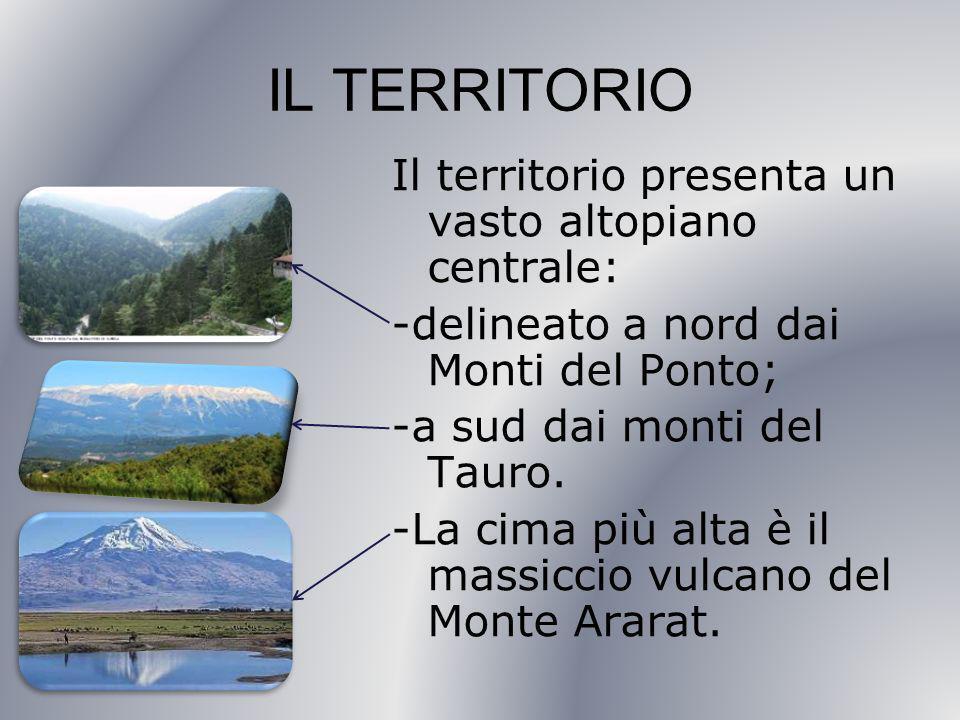 IL TERRITORIO Il territorio presenta un vasto altopiano centrale: