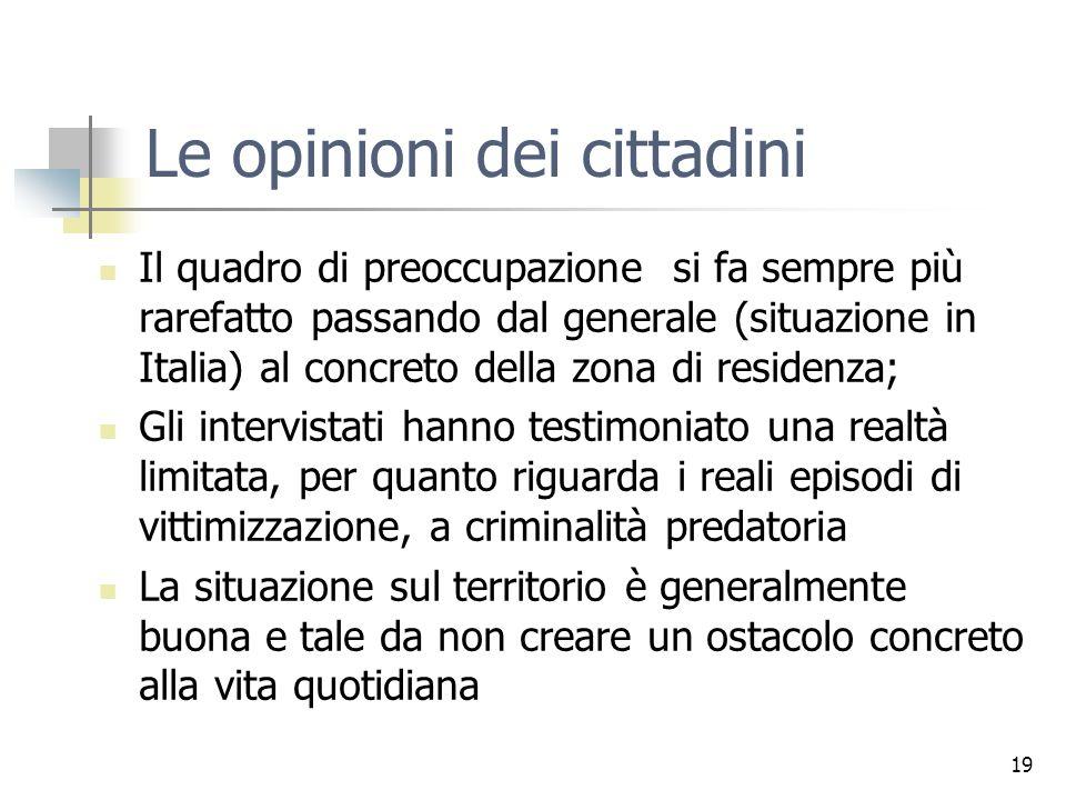 Le opinioni dei cittadini