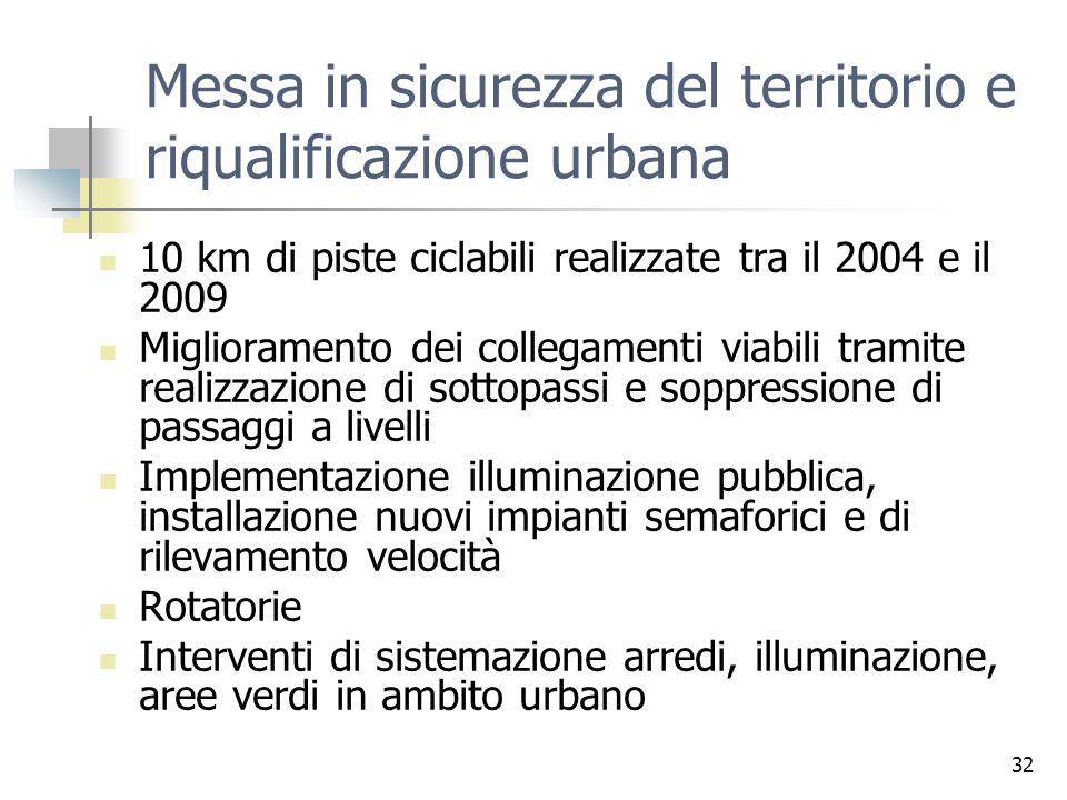 Messa in sicurezza del territorio e riqualificazione urbana