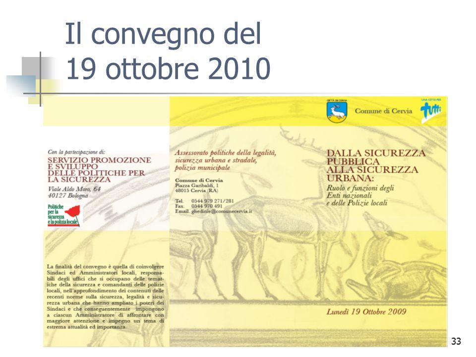 Il convegno del 19 ottobre 2010