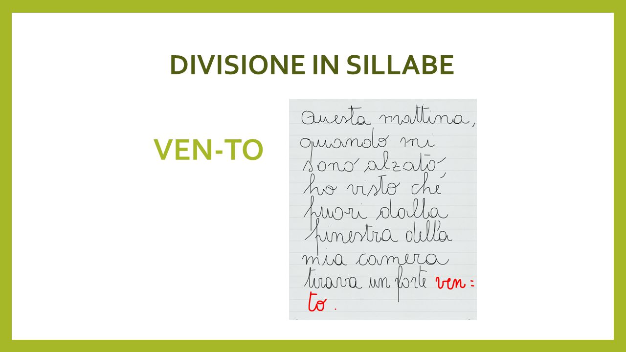 DIVISIONE IN SILLABE VEN-TO