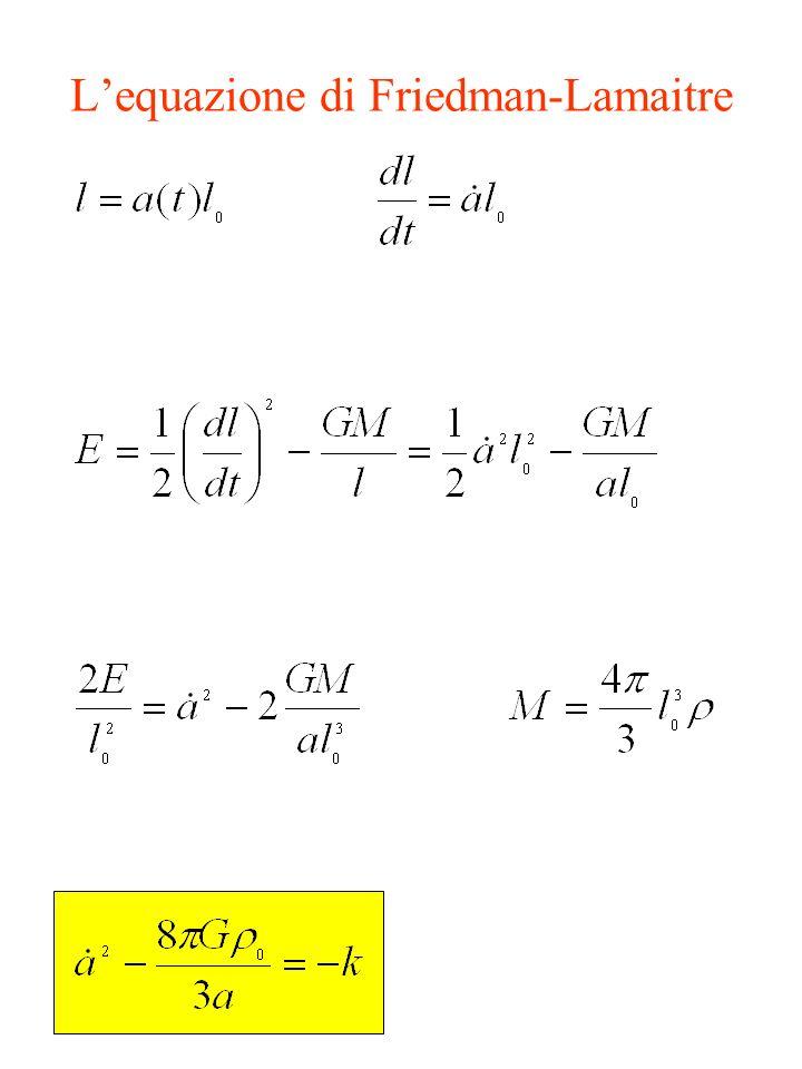 L'equazione di Friedman-Lamaitre