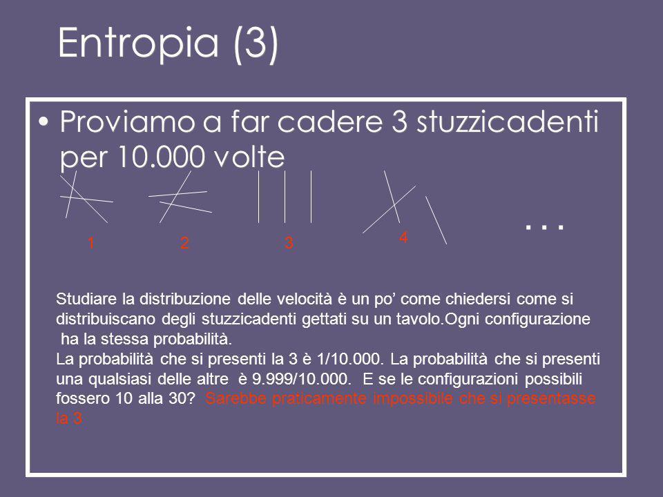 Entropia (3) Proviamo a far cadere 3 stuzzicadenti per 10.000 volte