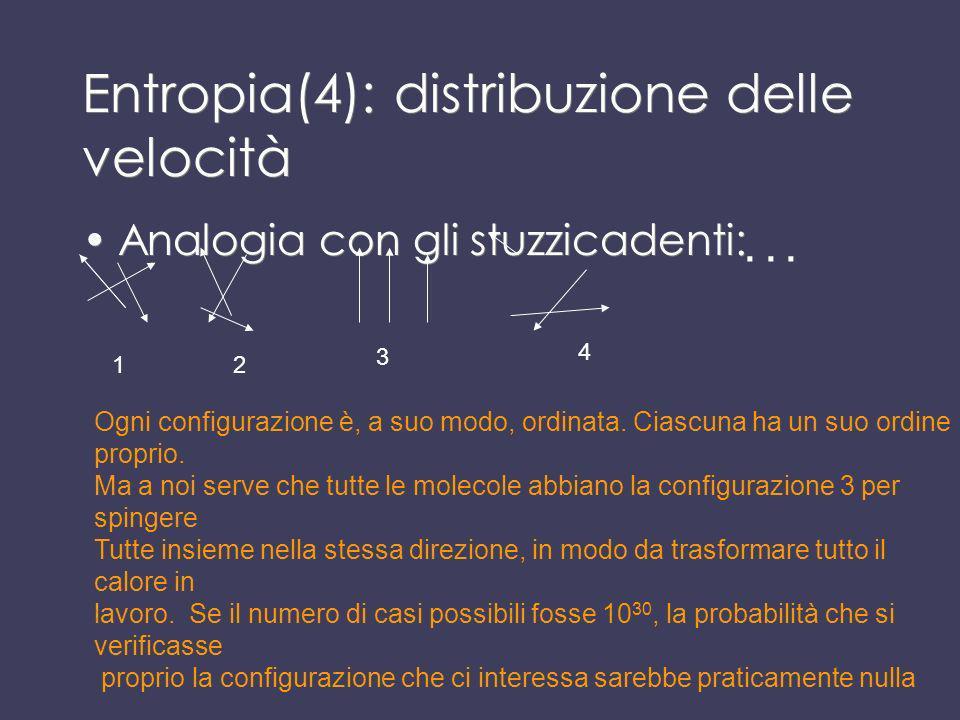 Entropia(4): distribuzione delle velocità