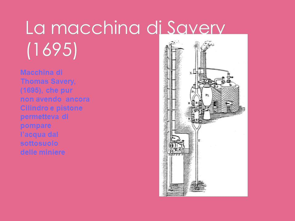 La macchina di Savery (1695)