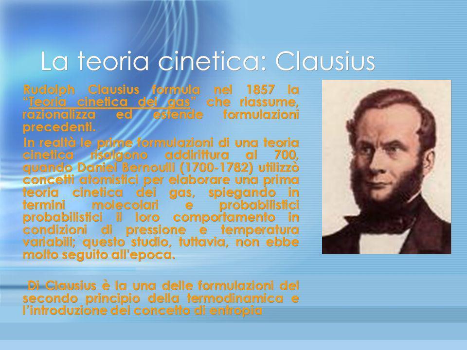 La teoria cinetica: Clausius