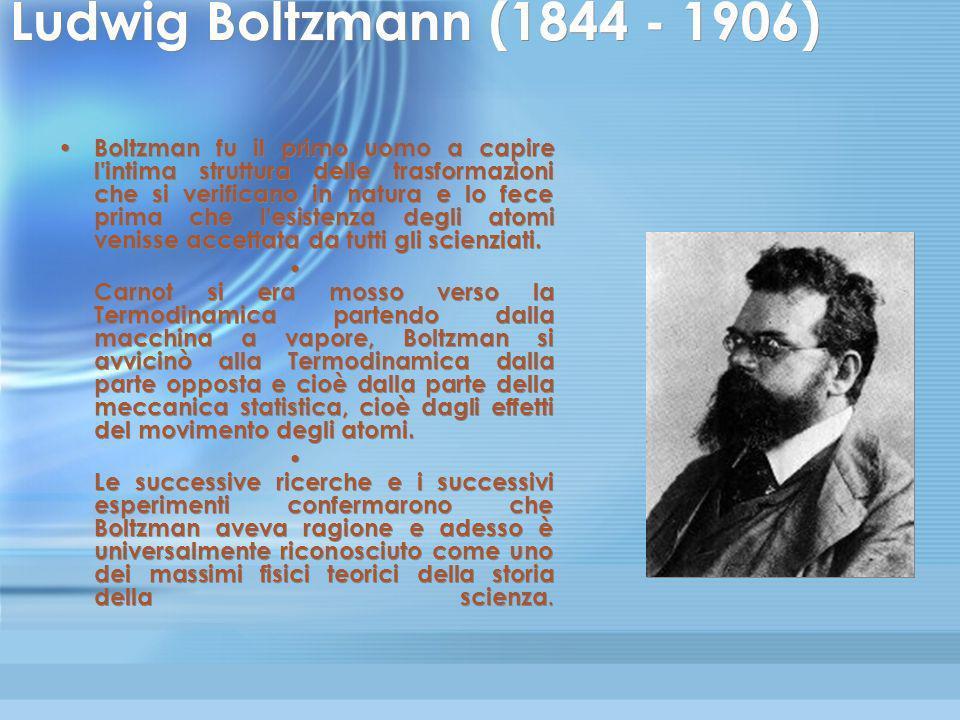 Ludwig Boltzmann (1844 - 1906)