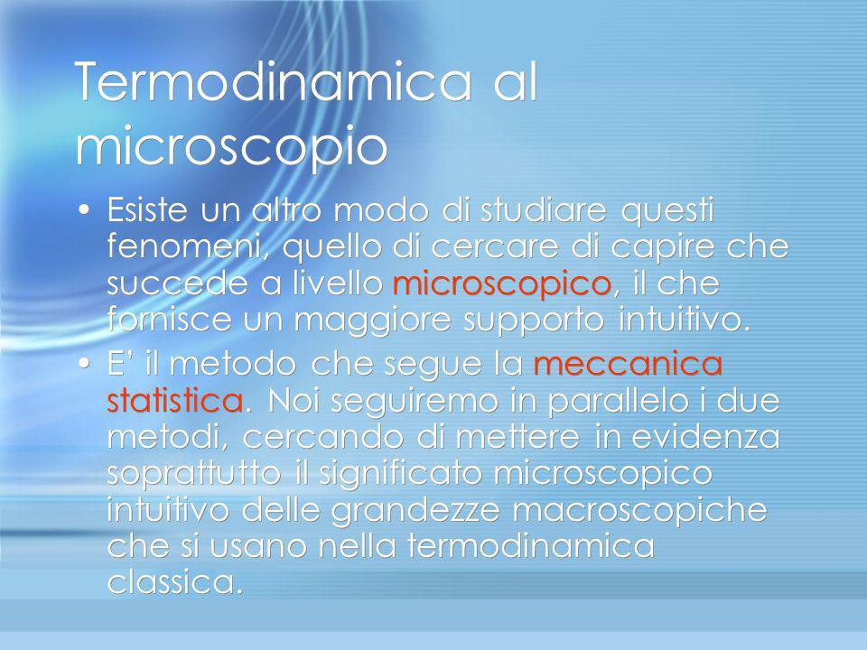 Termodinamica al microscopio
