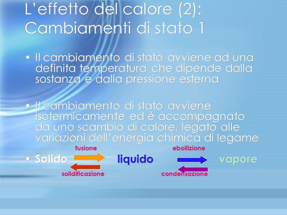 L'effetto del calore (2): Cambiamenti di stato 1