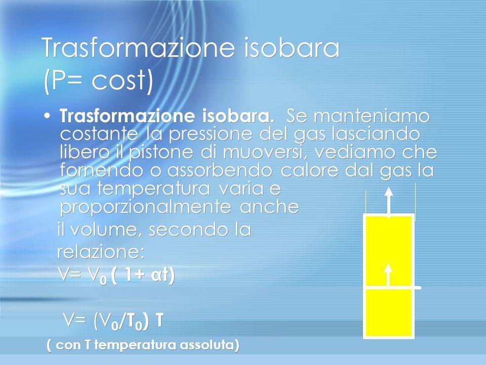 Trasformazione isobara (P= cost)