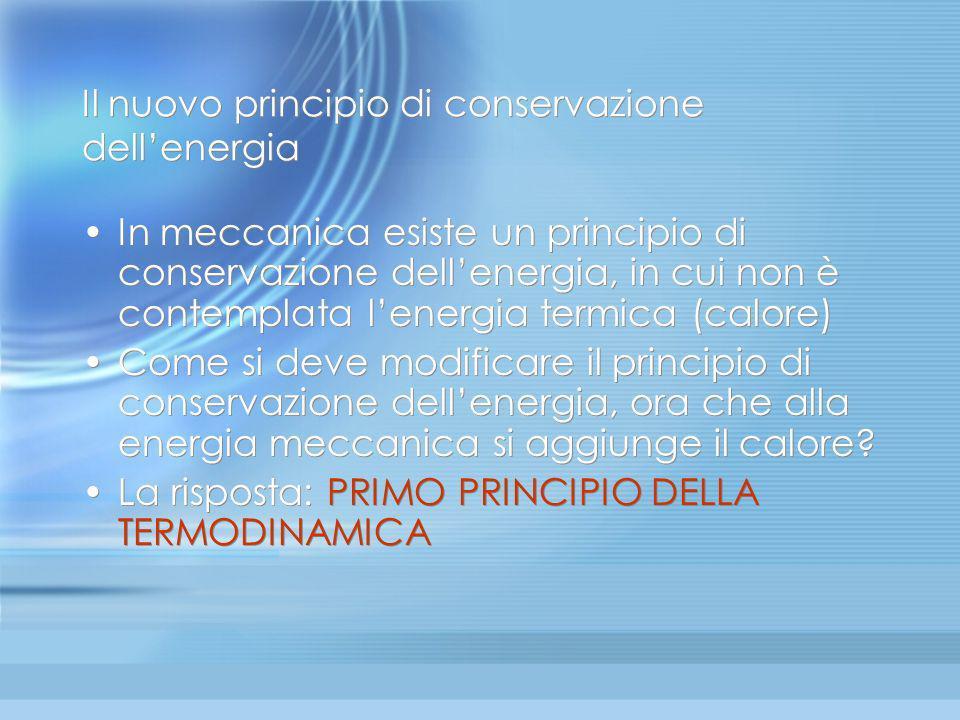 Il nuovo principio di conservazione dell'energia