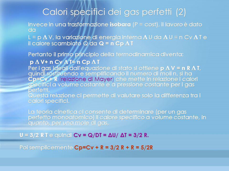 Calori specifici dei gas perfetti (2)