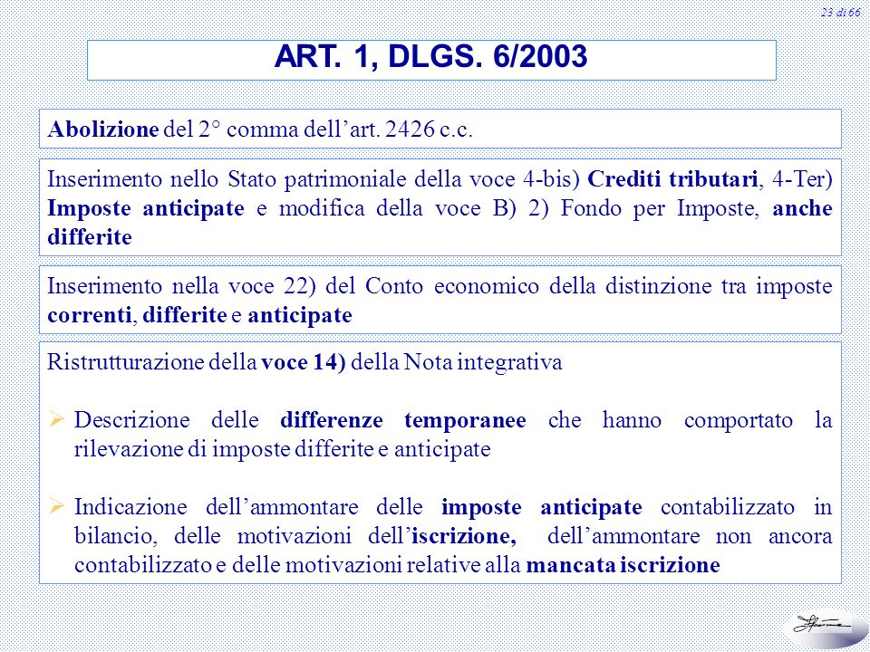 ART. 1, DLGS. 6/2003 Abolizione del 2° comma dell'art c.c.