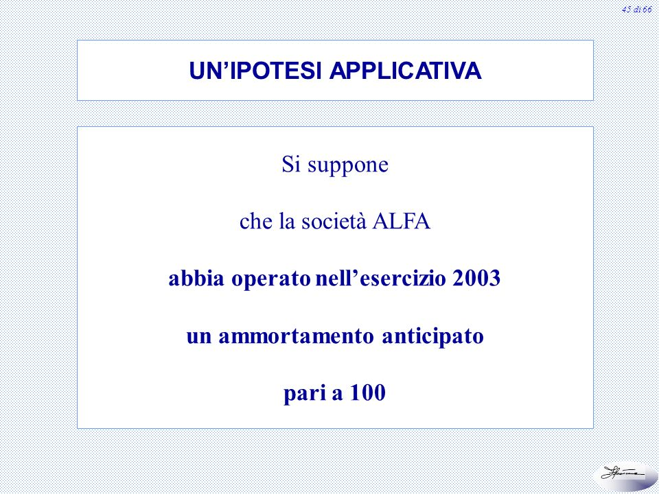 UN'IPOTESI APPLICATIVA