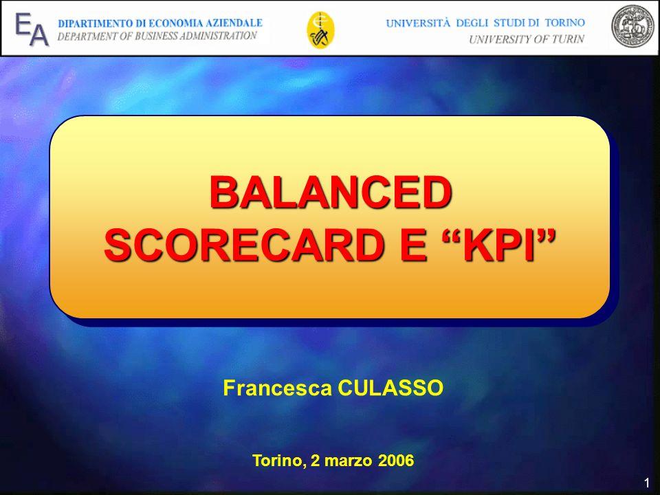 BALANCED SCORECARD E KPI